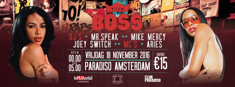 Boss Old Skool Special 18 November Paradiso Amsterdam