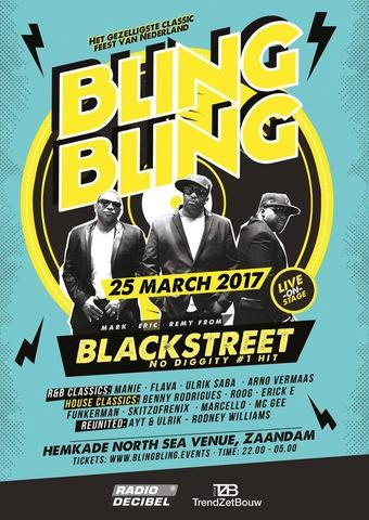 Blackstreet op 25 maart in North Sea Venue tijdens Bling Bling